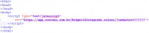 exemplo de código instalado
